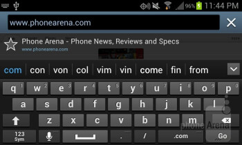 On-screen QWERTY keyboard - Samsung Galaxy Stellar Review