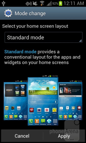 Standard Mode - The Samsung Galaxy Stellar comes equipped with a Starter Mode - Samsung Galaxy Stellar Review