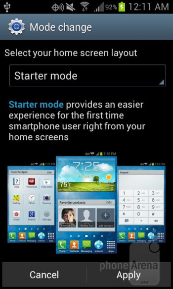 Starter Mode - The Samsung Galaxy Stellar comes equipped with a Starter Mode - Samsung Galaxy Stellar Review