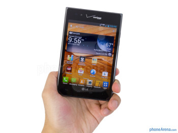 Two handed operation seems to be most optimal with the LG Intuition - LG Intuition Review