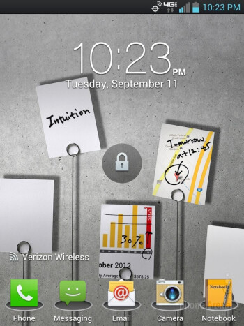 The LG Intuition is running the most up-to-date LG Optimus skin running on top of Android 4.0.4 Ice Cream Sandwich - LG Intuition Review