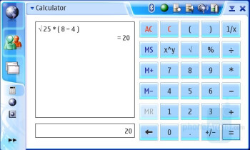 Calculator and Clock - Simple preloaded Tools - Nokia N800 Internet Tablet Review