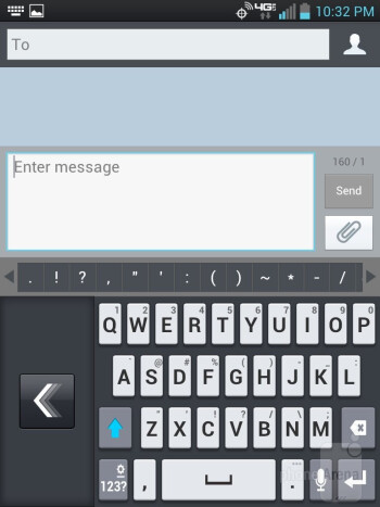 On-screen keyboard - LG Intuition Review