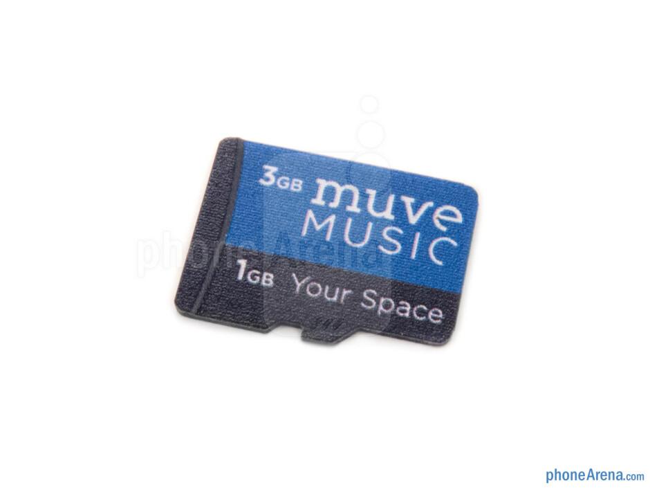 4GB memory card - Huawei Mercury Ice Review