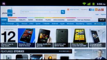 Web browsing with the Huawei Mercury Ice - Huawei Mercury Ice Review