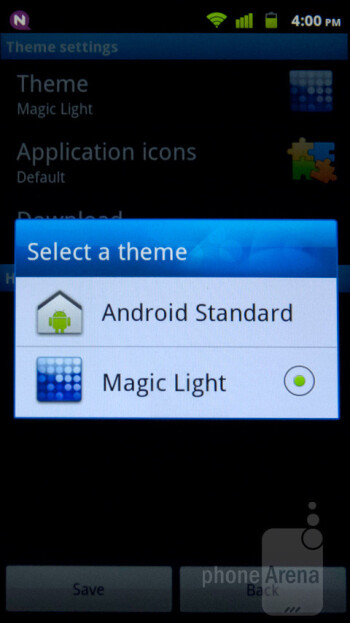 The Mercury Ice runs Android 2.3.6, and Huawei utilizes aHome themes to allow for customization of the device - Huawei Mercury Ice Review
