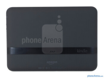 Speakers are incorporated into the metallic strip of the tablet - Amazon Kindle Fire HD Review