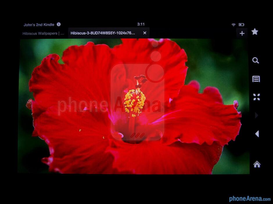 Color production - Amazon Kindle Fire HD Review