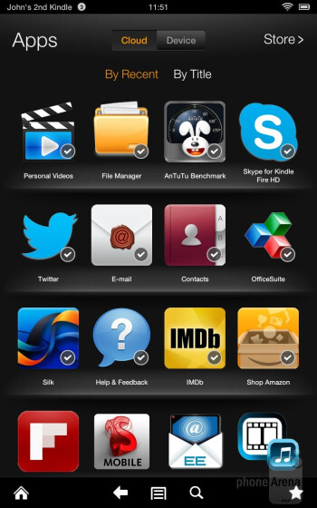 The Amazon Kindle Fire HD's interface - Amazon Kindle Fire HD Review