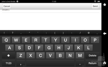 On-screen keyboard of the Amazon Kindle Fire HD - Amazon Kindle Fire HD vs Google Nexus 7