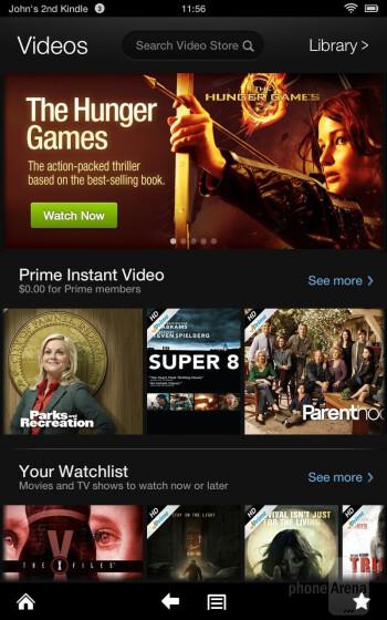 Amazon Prime Instant Video - Amazon Kindle Fire HD Review