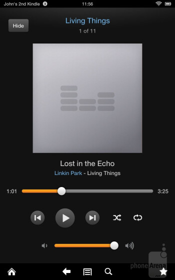Music player - Amazon Kindle Fire HD Review