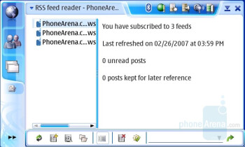 RSS reader - Nokia N800 Internet Tablet Review