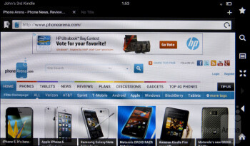 Web surfing with the Amazon Kindle Fire 2 - Amazon Kindle Fire 2 Review