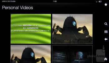 Personal Videos app - Amazon Kindle Fire 2 Review