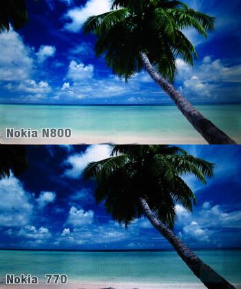 N800 and 770 displays - Nokia N800 Internet Tablet Review