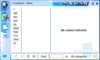 Empty Contacts List - GPE PIM - Nokia N800 Internet Tablet Review