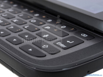 The 5-row keyboard of the Samsung Galaxy S Relay 4G - Samsung Galaxy S Relay 4G Review