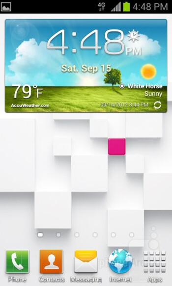 UI of the Samsung Galaxy S Relay 4G - Samsung Galaxy S Relay 4G Review