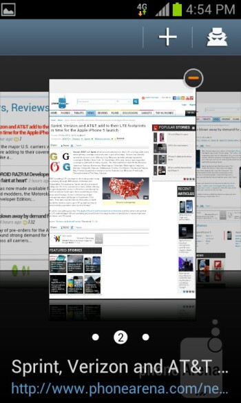 Web browsing with the Samsung Galaxy S Relay 4G - Samsung Galaxy S Relay 4G Review