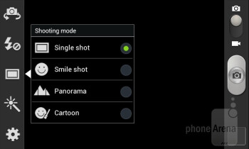 Camera interface - Samsung Galaxy S Relay 4G Review
