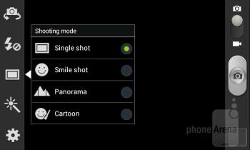 Camera interface - Samsung Galaxy S Relay 4G Review