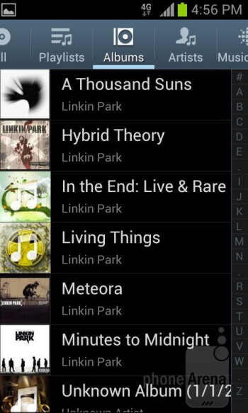 Music player - Samsung Galaxy S Relay 4G Review