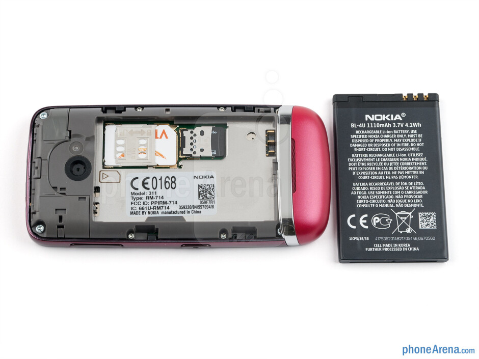 Battery compartment - Nokia Asha 311 Review