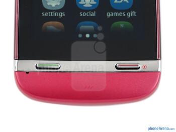 Buttons below the screen - Nokia Asha 311 Review