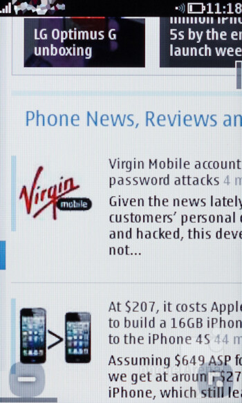 Browsing the web with the Nokia Asha 311 - Nokia Asha 311 Review