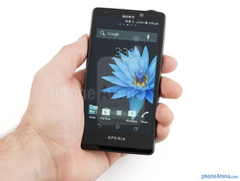 The Sony Xperia T  offers a slightly curved inwards back, which helps with the grip - Sony Xperia T Review