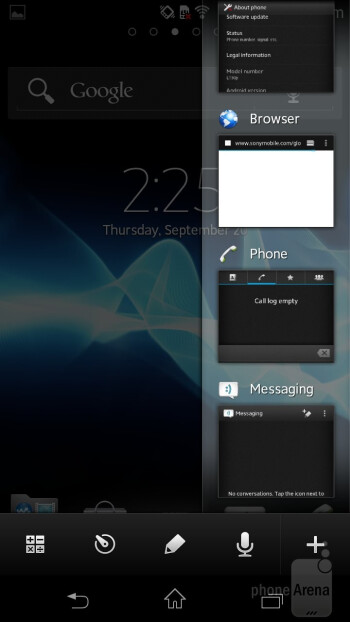 The usual for Sony Timescape UX here in the Xperia T is plastered over Android 4.0 ICS - Sony Xperia T Review
