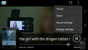 Video player - Sony Xperia T Review