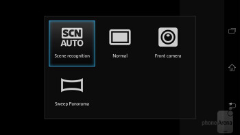 Camera interface - Sony Xperia T Review