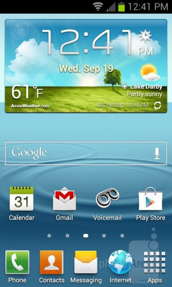 Samsung Galaxy Victory 4G LTE runs the new version of Nature UX - Samsung Galaxy Victory 4G LTE Review