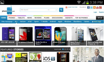 Web browser of the Samsung Galaxy Victory 4G LTE - Samsung Galaxy Victory 4G LTE Review
