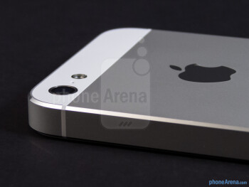 The rear of the iPhone 5 is home to the updated 8-megapixel iSight camera with LED flash - Apple iPhone 5 Review