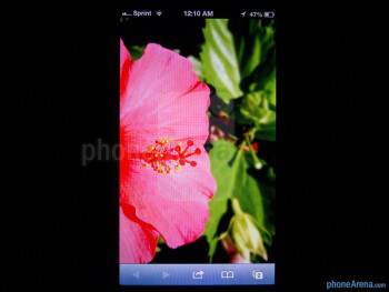 The display's color production is noticeably warmer looking than previous efforts – giving it a more vibrant output than before - Apple iPhone 5 Review