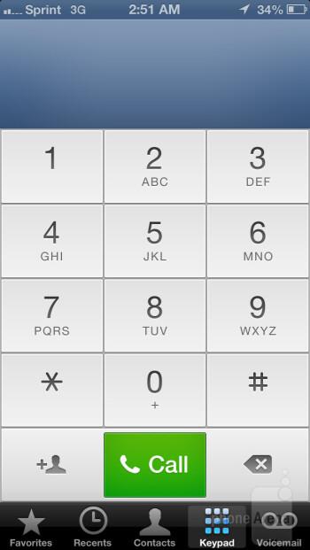 Dialer - Apple iPhone 5 - LG G2 vs Apple iPhone 5