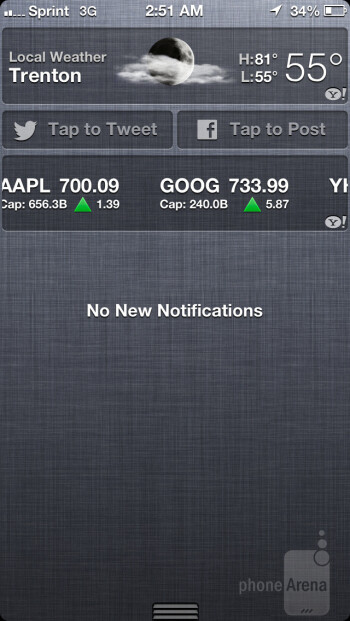 The notification panel - When compared to its rivals, iOS 6 is visually boring looking - Apple iPhone 5 Review