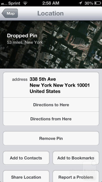 Apple Maps - Apple iPhone 5 Review