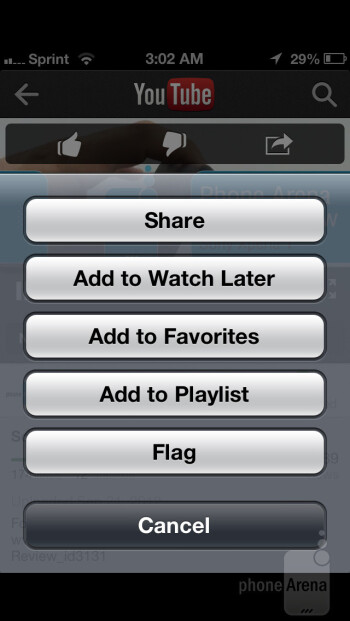 Google's dedicated YouTube app - Apple iPhone 5 Review