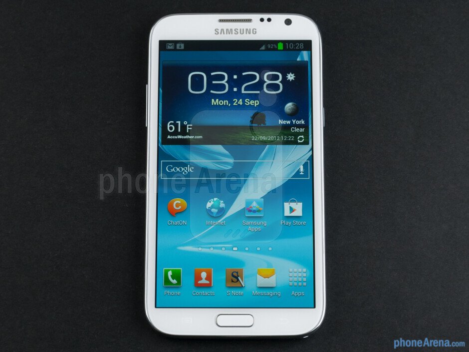 Front - Samsung Galaxy Note II Review