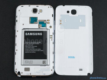 Battery compartment - Samsung Galaxy Note II Review