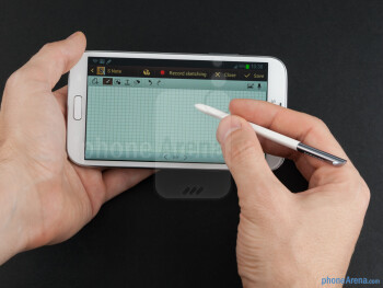 Since the S Pen is longer and way thicker now, it feels much more ergonomic in the hand - Samsung Galaxy Note II Review