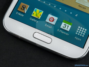 Android buttons - Samsung Galaxy Note II Review