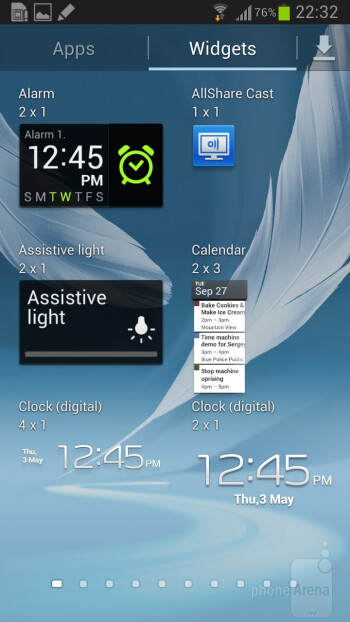 Interface of the Samsung Galaxy Note II - Samsung Galaxy Note 3 vs Samsung Galaxy Note 2