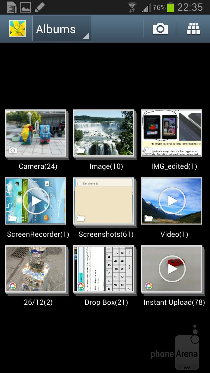 There is a choice of 3D views in the Gallery app - Samsung Galaxy Note II vs HTC One X