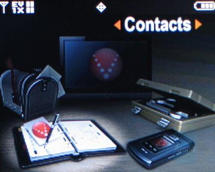 Samsung U740 Interface - Samsung Alias U740 Preview