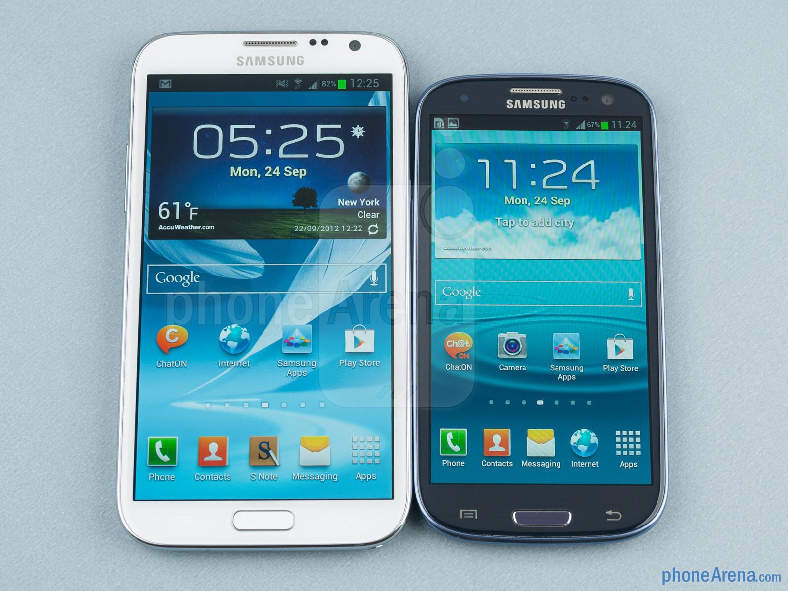 Samsung Galaxy Note II vs Galaxy S III 01 مواصفات ومميزات وعيوب وأسعار جلاكسي نوت 3 Samsung galaxy note